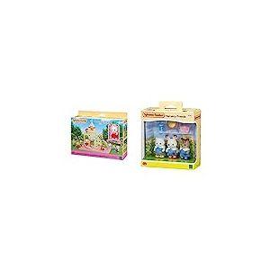 SYLVANIAN FAMILIES-Le château et Crème Le bébé Lapin Chocolat Mini-Univers, 5319, Multicolore & Nursery Friends Families Les Amies De Creche, 5262, Multicolore