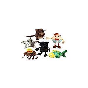 The Puppet Company Comptines Lot de 6 Marionnettes à Doigts WFNAIR025