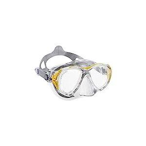 Cressi Eyes Evolution Crystal Masque de Plongée/Chasse sous-Marine (Fabriqué en Italie) - Clear/Jaune