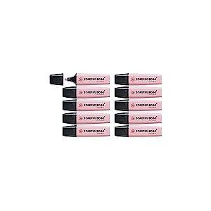Surligneur - STABILO BOSS ORIGINAL Pastel - Lot de 10 surligneurs - Soupçon de rose