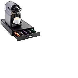 AmazonBasics Tiroir de rangement pour capsules Nespresso - Capacité 50 capsules