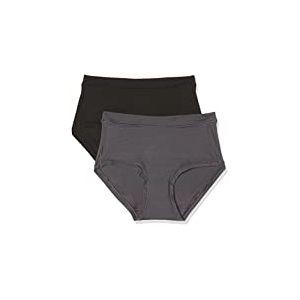 Dim Body MOUV Shorty Femme , Multicolore (Noir Gris Granite 6o5), 44 (Taille fabricant: 44/46) ,Lot de 2