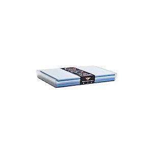 Clairefontaine 20861C - Un coffret Pollen comprenant 40 enveloppes 9x14 cm + 40 cartes 8,2x12,8 cm, Couleur Bleu (5 couleurs assorties)
