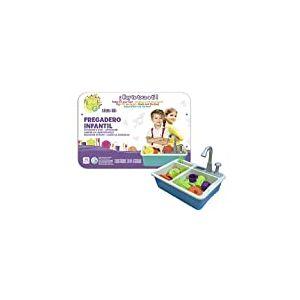 cpa toy group trading s.l.- Évier Enfant avec Pompe à Eau, Couleur Bleu (CPAToy Group, S.L. 77877)