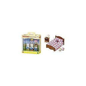Sylvanian- Nursery Friends Families Les Amies De Creche, 5262, Multicolore & 5019 - Semi Lit Double - Poupées et Accessoires - Sylvanian