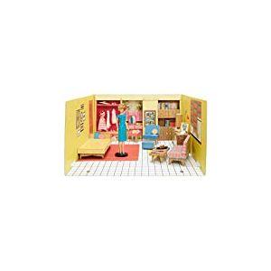 Barbie reproduction de la Maison de Rêve de 1962 avec poupée blonde, 3 tenues rétro et accessoires inclus, édition 75 ans Mattel, jouet collector, GNC38