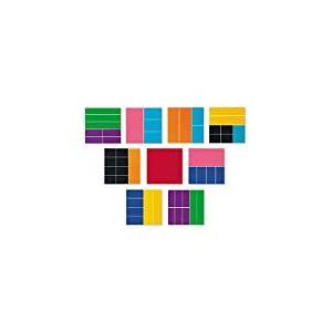 Learning Resources- Carrés de Fractions Deluxe aux Couleurs de l'arc-en-Ciel, LER0619