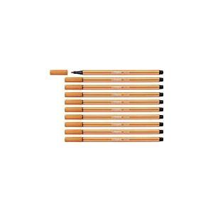 Feutre dessin - STABILO Pen 68 - Lot de 10 feutres pointe moyenne - Vermillon clair (68/30)