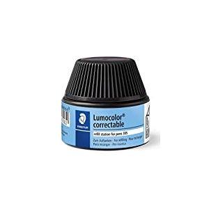 Lumocolor 487 05 - Flacon Recharge 20 Ml Pour Feutre Effaçable À Sec 305 Noir