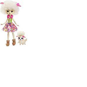 Enchantimals Mini-poupée Lorna Brebis et Figurine Animale Flag, aux cheveux blancs et bouclés avec jupe à motifs en tissu, jouet enfant, FNH25