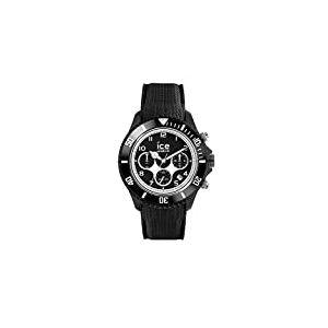 Ice-Watch - ICE dune Black - Montre noire pour homme avec bracelet en silicone - Chrono - 014216 (Large)