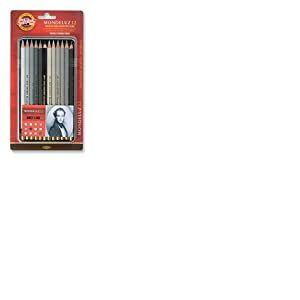 Koh-I-Noor Mondeluz Grey Line Ligne Grise Crayons de Couleur Aquarelle(Set de 12)