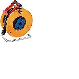 Brennenstuhl Enrouleur electrique Professionnel 40m (H07RN-F 3G2,5, IP44, Garantie 3 ans, Jaune), Fabrication Francaise