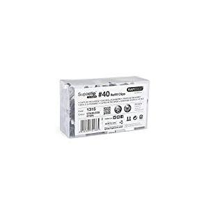 Rapesco Supaclip 40 - 350 Pinces Clips de Recharge Acier Inox
