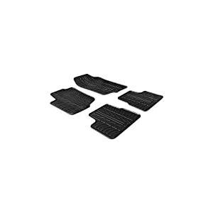 Set tapis de caoutchouc compatible avec Peugeot 207 2006- (T profil 4-pièces + clips de montage)