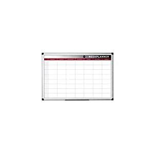 Bi-Office Planificateur Semaine, magnétique, cadre en aluminium, 60x 45cm