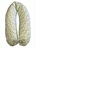 Coussin d'allaitement et de grossesse + housse avec lacets / 190cm (rembourré en billes de polystyrène, ignifuge) Coniglietto Verde