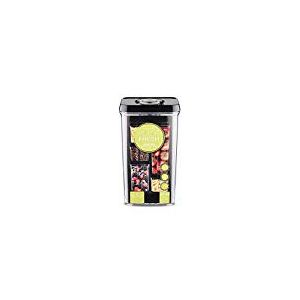 Pioneer Pompe Fresh Pompe Vacuum Seal Boîte à récipient Tupperware Box, rectangulaire, Plastique, Noir, 3600ml