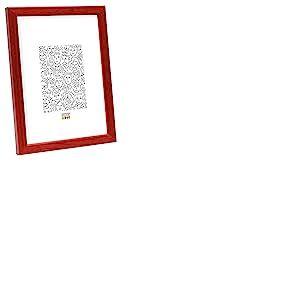 Deknudt Frames S41JL4 Cadre Photo Bois Fin Rouge 15 x 20 cm