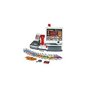 Klein 9356 Caisse enregistreuse tactile | Avec clavier tactile, fonction calculatrice, terminal pour carte de crédit, scanner et balance | Dimensions: 31 cm x 15,5 cm x 23 cm | Dès 3 ans