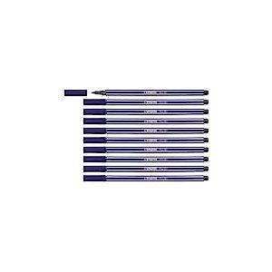Feutre dessin - STABILO Pen 68 - Lot de 10 feutres pointe moyenne - Bleu de Paris (68/22)
