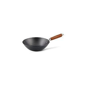 Ken Hom Classic KH327001 Wok en Acier Carbone avec Revêtement Antiadhésif, ø27 cm, Noir