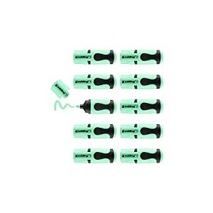 edding 7 Mini-surligneur - vert pastel - 10 surligneurs - pointe biseautée 1-3 mm - petits surligneurs aux couleurs tendance - pour les bullet journals, l'école, l'université ou le bureau
