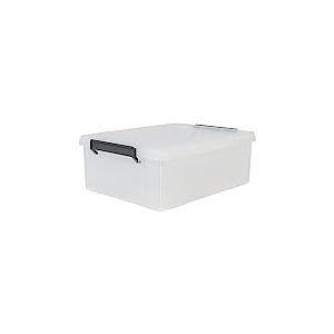 Iris Ohyama, Boîte de Rangement / Bac en Plastique avec Couvercle - Multi Box - MBX-18 - Plastique, Transparent, 18 L, 34,8 x 45,3 x 16,5 cm