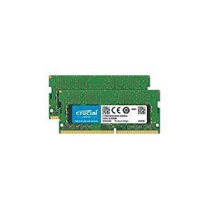 Crucial CT2K8G4S266M (DDR4, 2666 MT/s, PC4-21300, CL19, Single Rank x8, SODIMM, 260-Broches) Mémoire pour Mac 16Go Kit (8Go x2) Vert