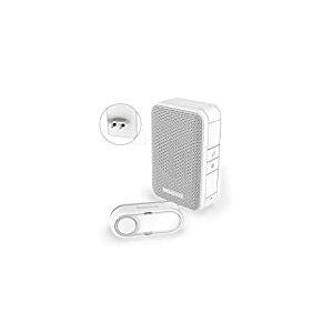 Carillon sans fil enfichable Honeywell Home DC312SP2USB série 3 avec chargeur USB et bouton-poussoir (blanc)