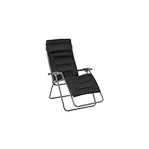 Lafuma Fauteuil Relax, Pliable et réglable, RSX Clip XL, Air Comfort, Couleur: Acier, LFM2041-8718