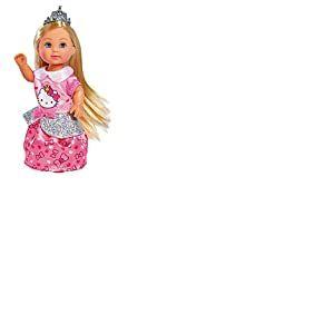 Simba - Hello Kitty - Evi Love Princesse - Mini Poupée 12cm - Tiare Incluse - 109283017