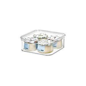 iDesign Casier Rangement pour Frigo (16,1 cm x 16,1 cm x 9,6 cm), Bac Alimentaire en Plastique sans BPA, Bac Rangement pour la Cuisine ou le Frigidaire, Transparent