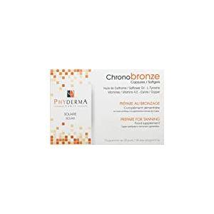 Phyderma Chonobronze Complément Alimentaire Soleil - Accélérateur de Bronzage - Antioxydant - Capsules Solaires 56 Capsules
