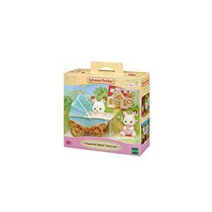 Sylvanian Families - 5432 - Les jumeaux lapin chocolat et poussette double