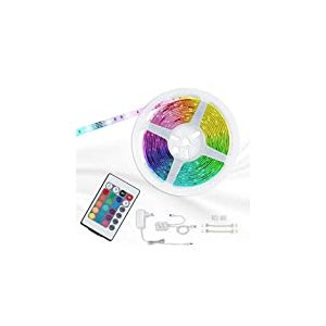 Briloner Leuchten 2267-150P Kit ruban LED RGB autocollant - avec télécommande & connecteurs - dimmable et à changement de couleur - 150 x 0.16 W - longueur : 500 cm