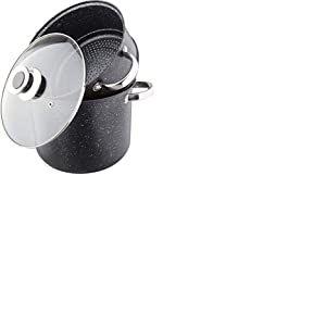 Kamberg - 0008123 - Couscoussier / Cuit Vapeur / Faitout 3 en 1 - Diamètre 26 cm - 10 litres - Acier Inoxydable Haute Qualité - Tous feux dont induction - Revêtement type pierre - Sans PFOA