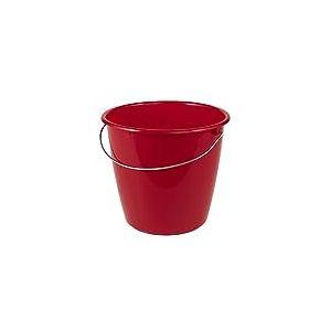 OKT 2053670 Seau avec Anse 5 l en Rouge, Plastique