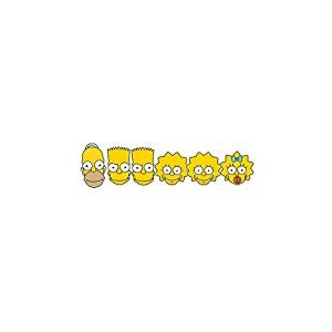 Star découpes Smp354Homer/Lisa/Bart/Maggie Simpson Masque, à la Main/A