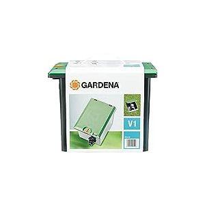 Regard pré-montable V1 de GARDENA: boîtier de sol pour l'installation souterraine de vannes d'arrosage, installation et retrait faciles (1254-20)