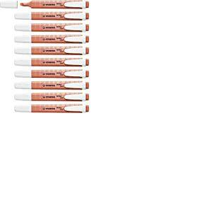 Surligneur - STABILO swing cool Pastel Edition - Lot x 10 surligneurs - Douceur de corail