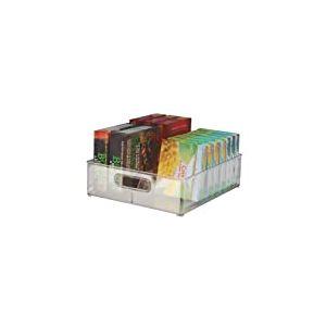 InterDesign Fridge/Freeze Binz boite rangement frigo, box de rangement en plastique, organisateur cuisine à 2 compartiments, transparent