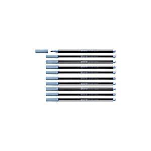 Feutre métallisé - STABILO Pen 68 metallic - Lot de 10 feutres métallisés pointe moyenne - Bleu métallisé