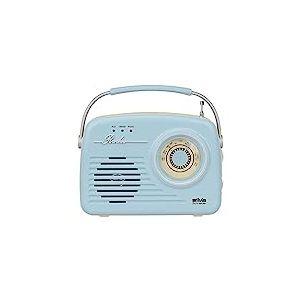 Silva-Schneider Mono 1965 Radio de Coffre avec Batterie Bleu