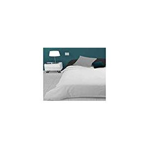 Soleil d'ocre Adele, Couvre lit, jeté de canapé, Polycoton, Blanc, 220 x 240 cm