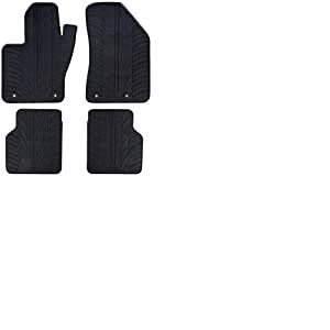 Set tapis de caoutchouc Jeep Compass 5/2017- (T profil 4-pièces + clips de montage)