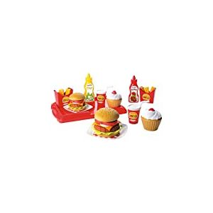 Ecoiffier - 2623 - Jeu D'Imitation - Cuisine - Set Hamburger - 36 pièces