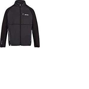 Regatta Foley II Hybrid Veste Softshell Homme Stretch Extensible avec Poches zippées Soft Shell, Ash/Black, FR (Taille Fabricant : 5XL)