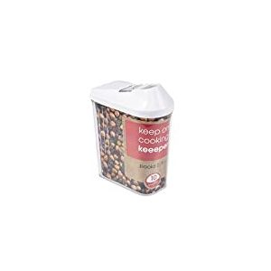 keeeper 2053907 Boite a cereales 0,75 l en Blanc, Plastique, 10,5 x 5,5 x 17 cm
