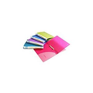 Rapesco Classeur 2 Anneaux 15mm en Polypropylène Texturé A4 (Lot de 10) Couleurs Assorties